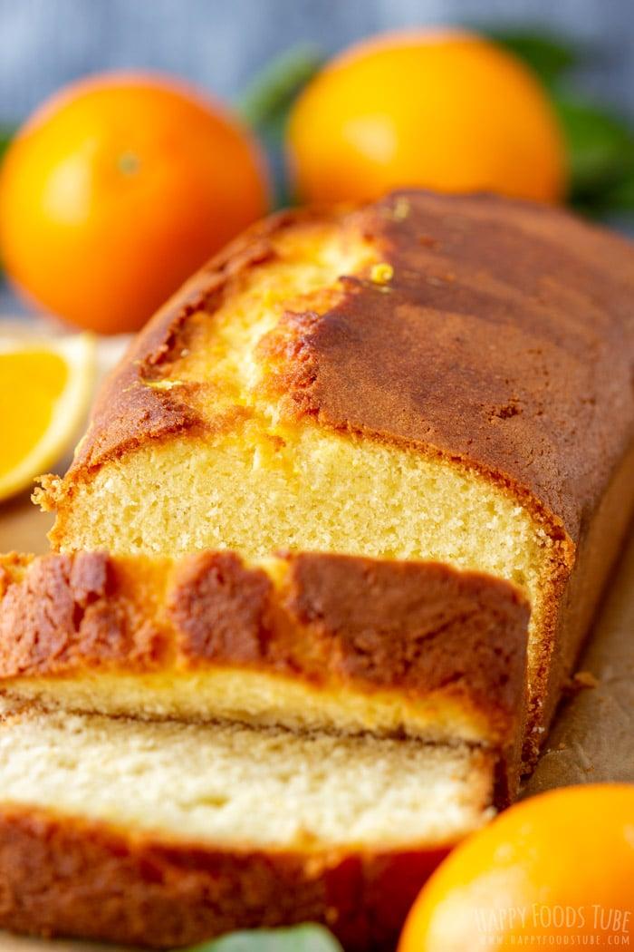 Sliced Homemade Orange Bread