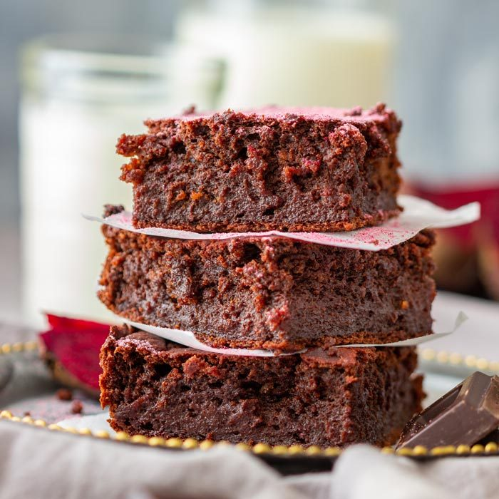 Dark Chocolate Beet Brownies