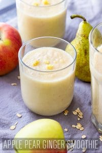 Healthy Apple Pear Ginger Smoothie Recipe