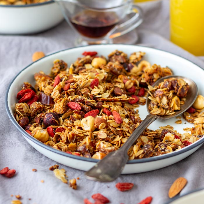 Super Healthy Homemade Granola Recipe