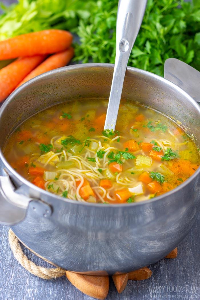 Homemade Leftover Turkey Noodle Soup
