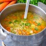 Homemade Leftover Turkey Noodle Soup Recipe