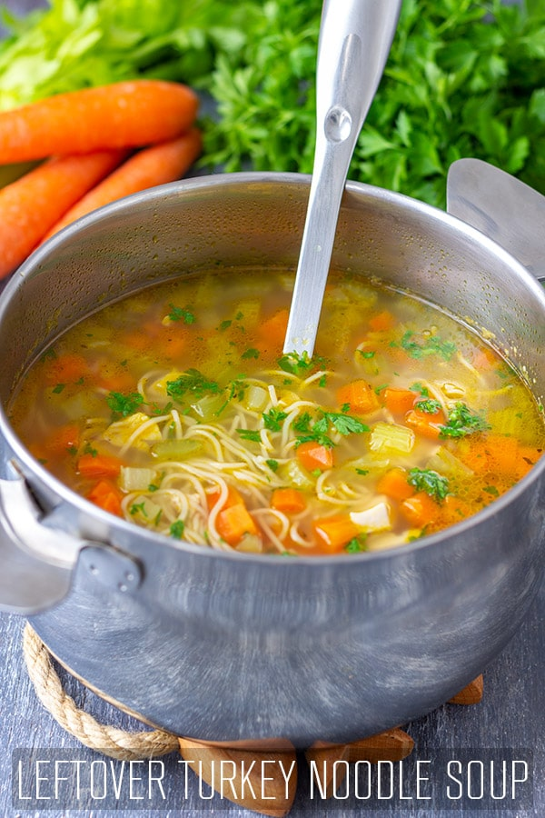 Homemade Leftover Turkey Noodle Soup Recipe