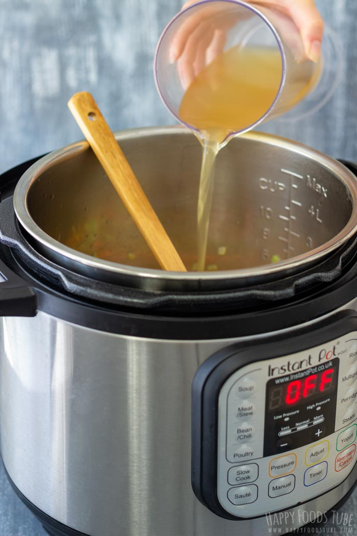 How to make Instant Pot Chicken Gnocchi Soup Step 2