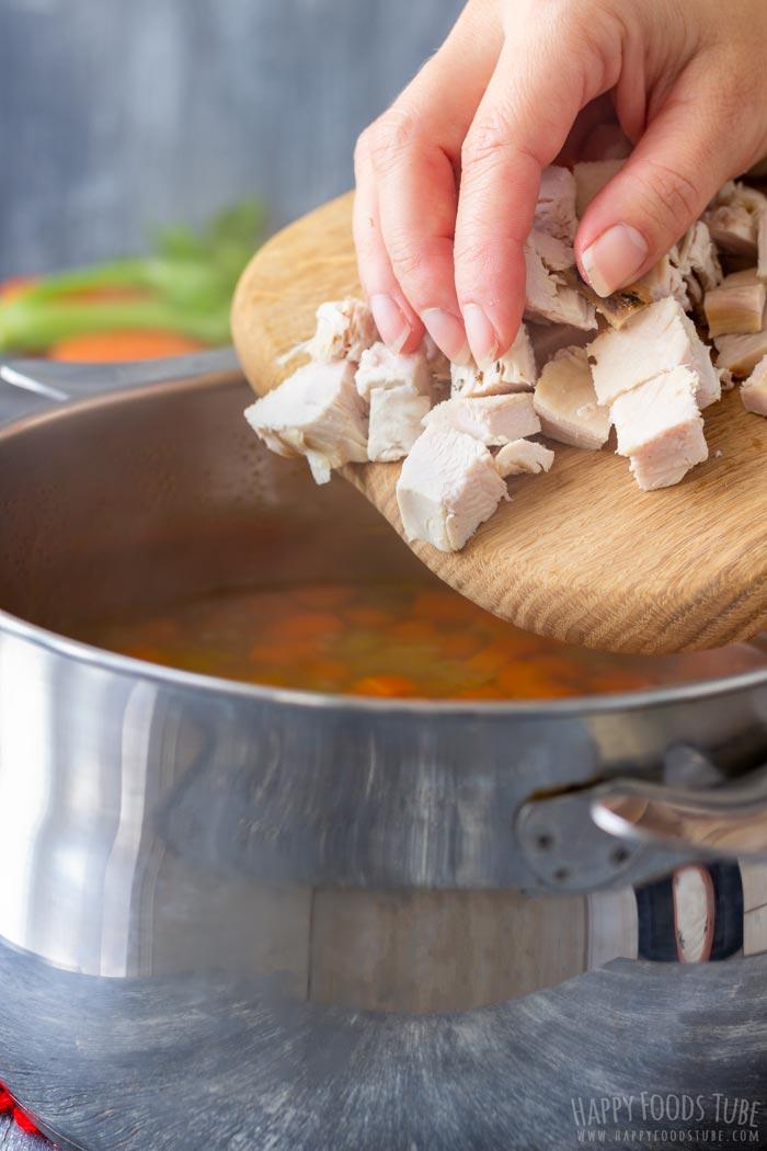 How to make Leftover Turkey Noodle Soup Step 2