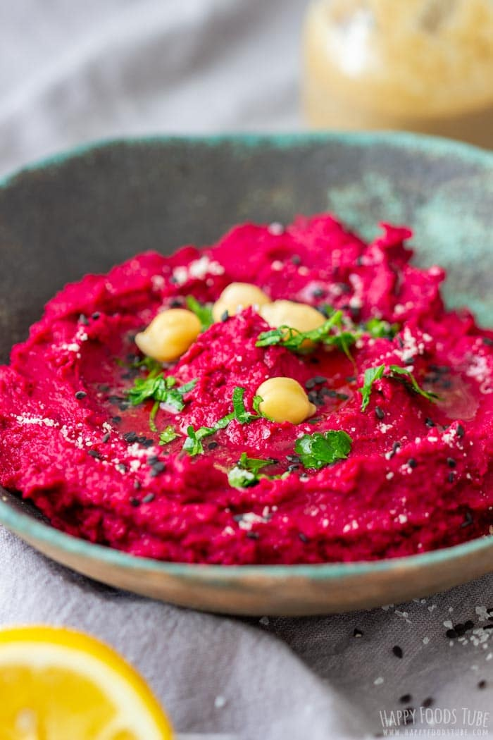 Colorful Roasted Beet Hummus