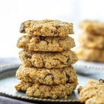 Flourless Almond Flour Chocolate Chip Oatmeal Cookies Recipe
