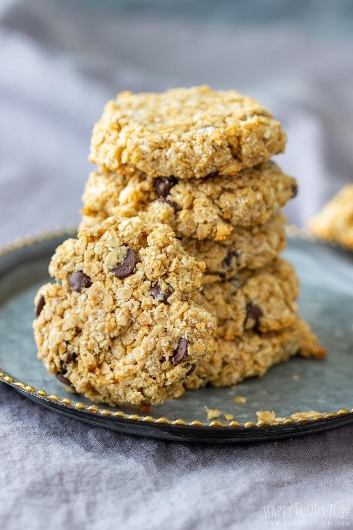 Gluten Free Flourless Chocolate Chip Oatmeal Cookies