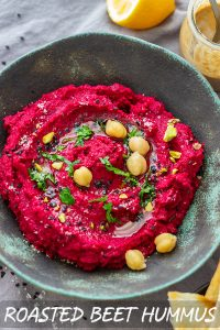 Homemade Roasted Beet Hummus Recipe