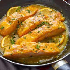 Best Orange Glazed Salmon