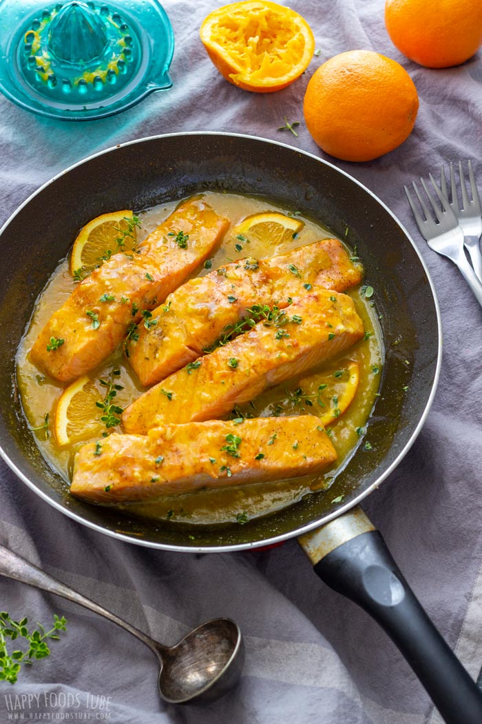 Orange Glazed Salmon on the Skillet
