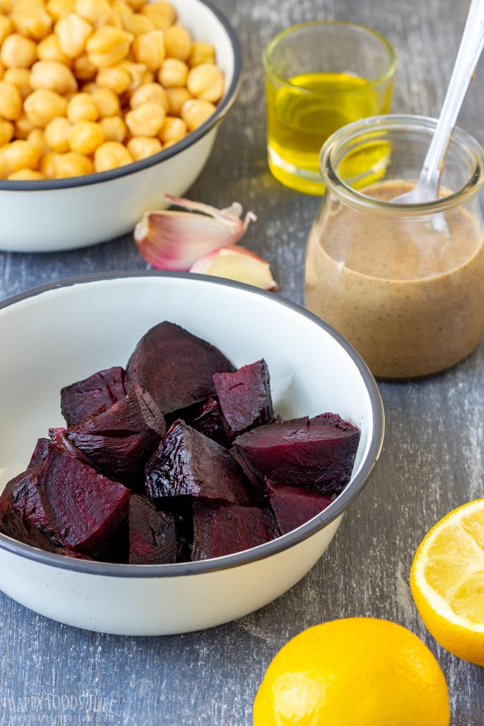 Roasted Beet Hummus Ingredients