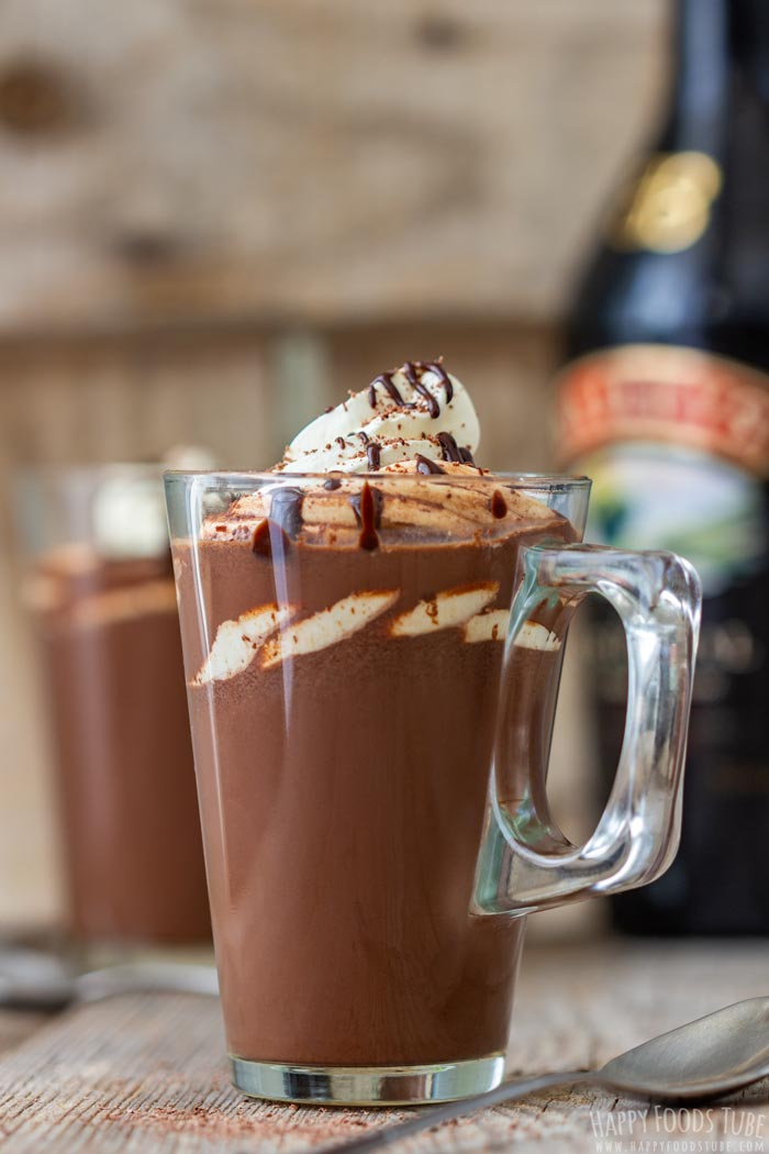 Glass of Baileys Hot Chocolate