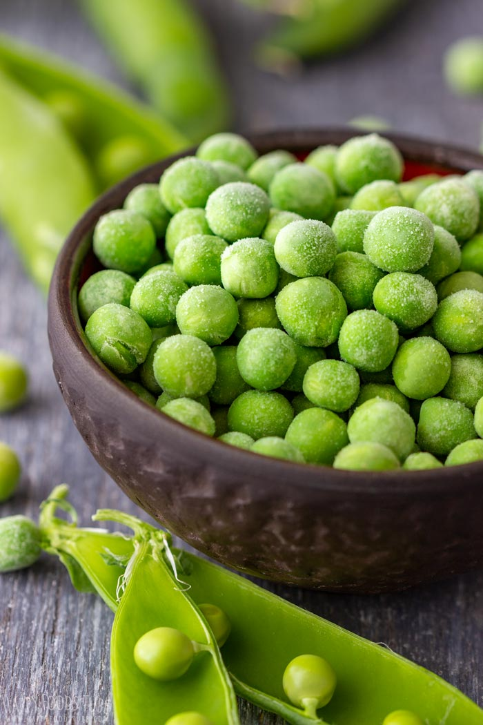 Frozen Green Peas and Fresh Green Peas