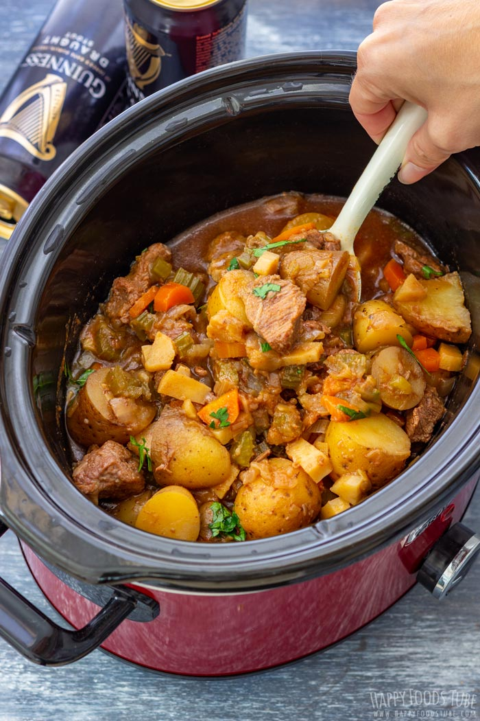 Homemade Slow Cooker Guinness Beef Stew