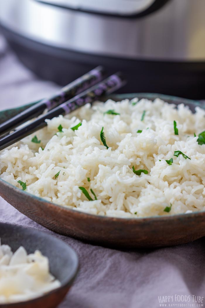 Instant Pot Coconut Rice Closeup