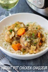 Instant Pot Pressure Cooker Chicken Chasseur Recipe
