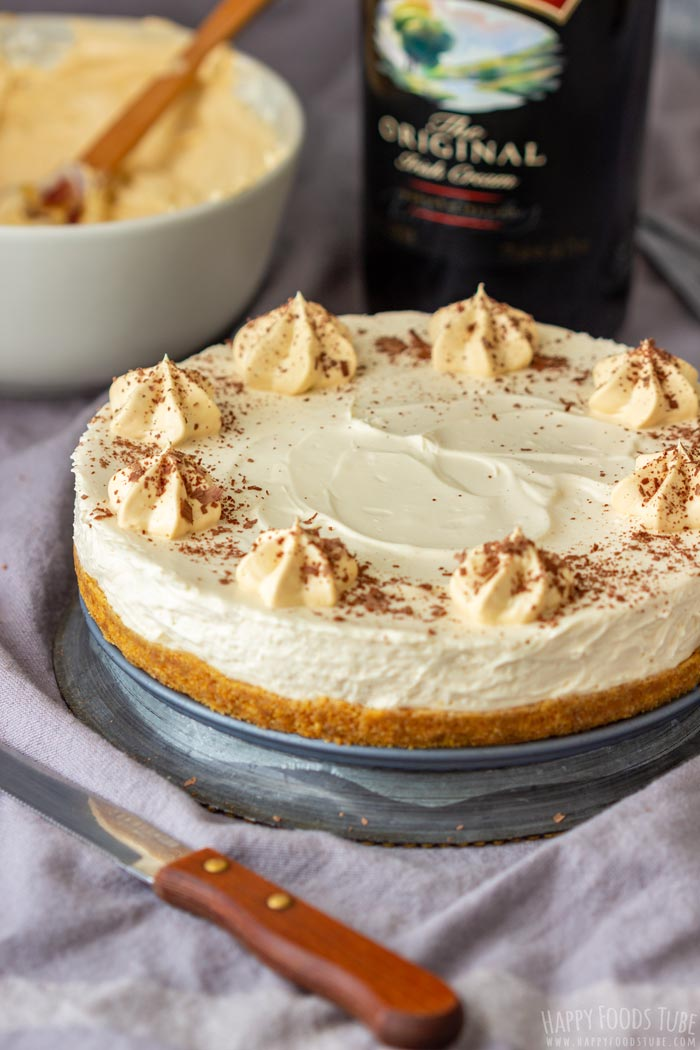 No Bake Baileys Irish Cream Cheesecake