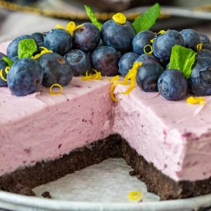 Best No Bake Blueberry Cheesecake