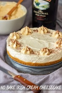 No Bake Irish Cream Cheesecake Recipe