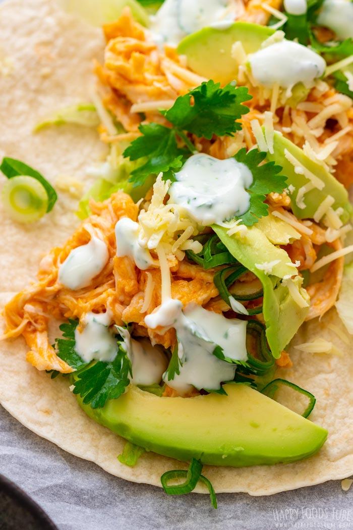 Buffalo Chicken Tacos Closeup