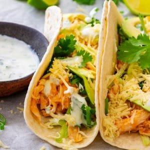 Best Buffalo Chicken Tacos
