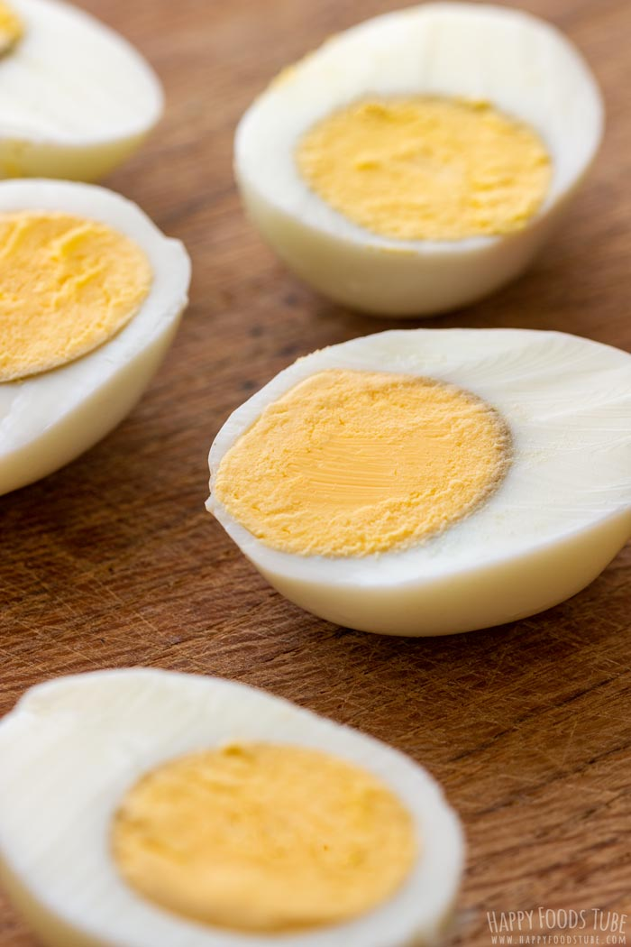 Hard Boiled Eggs for Guacamole Deviled Eggs
