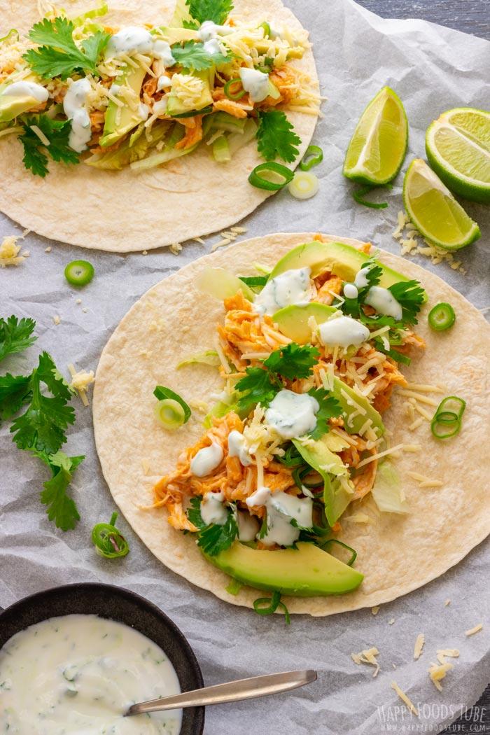 Homemade Buffalo Chicken Tacos