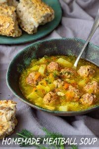 Easy Homemade Meatball Soup Recipe