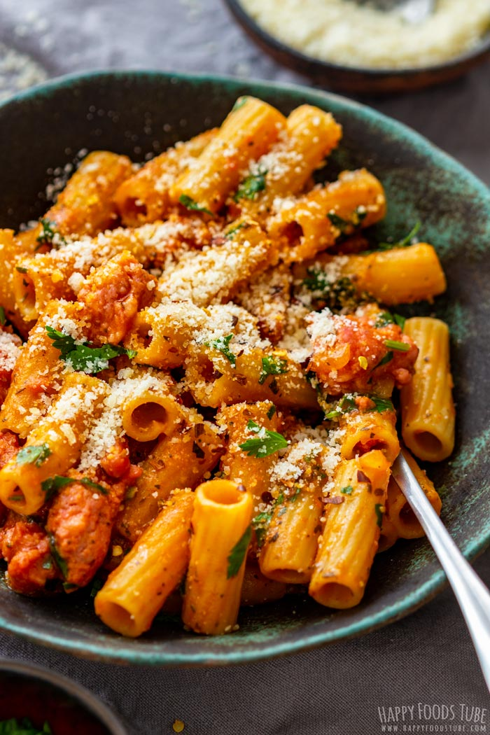 One Pot Sausage Pasta with Parmesan Cheese