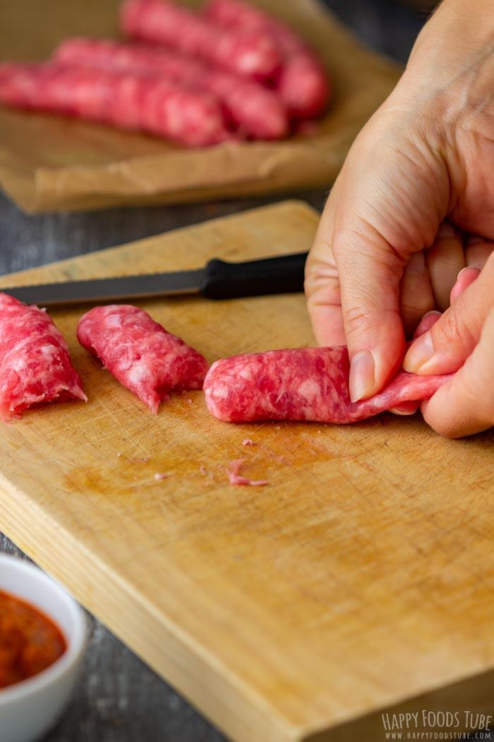 Process Shots of One Pot Sausage Pasta Step 1