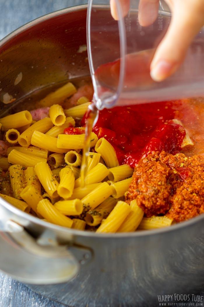 Process Shots of One Pot Sausage Pasta Step 3