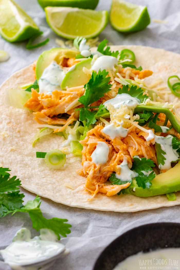 Spicy Buffalo Chicken Tacos Tradidional Mexican Food