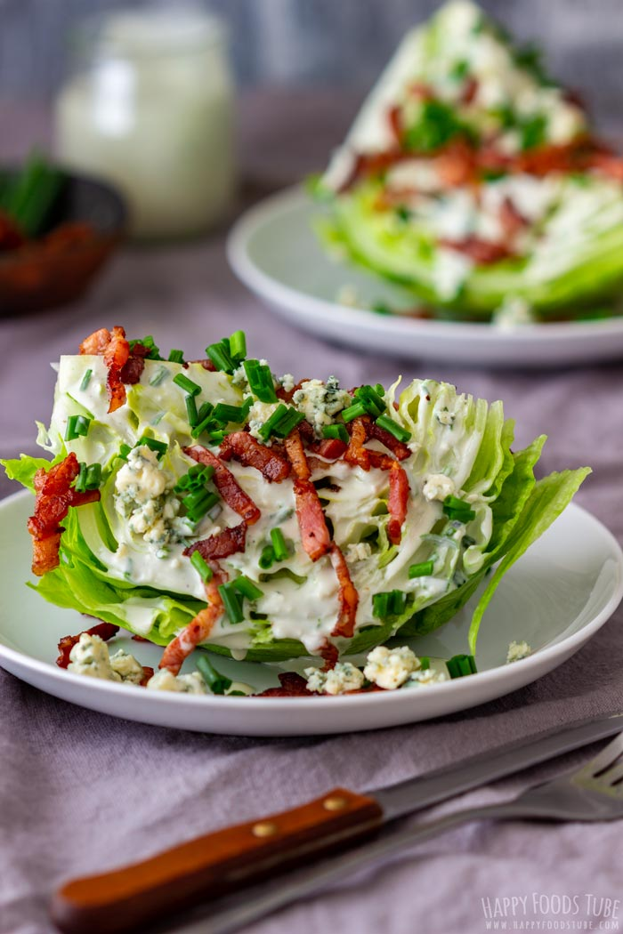 Wedge Salad with Bacon and Blue Cheese Dressing