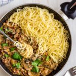 Sun-Dried Tomato Spaghetti with Creamy Mushroom Sauce