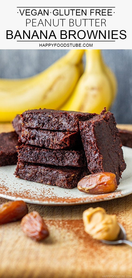 Moist Vegan Peanut Butter Banana Brownies Recipe