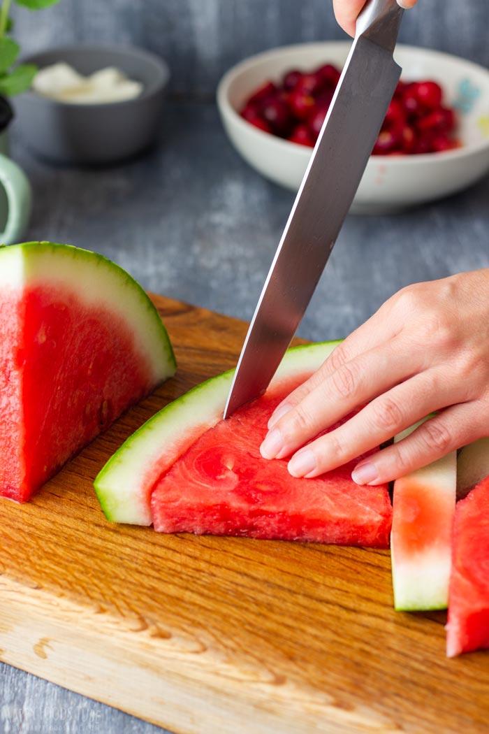 How to make Watermelon Feta Salad Step 2