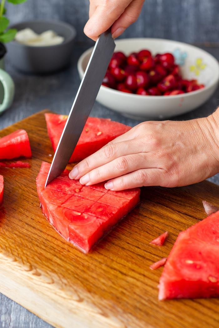 How to make Watermelon Feta Salad Step 3