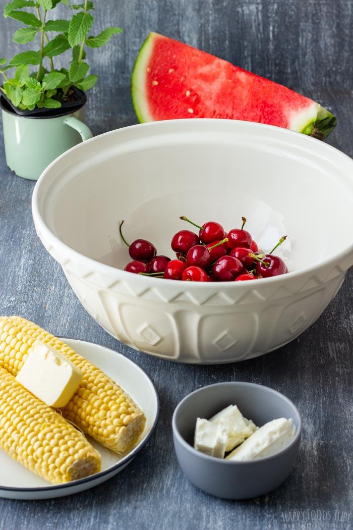Watermelon Feta Salad Ingredients