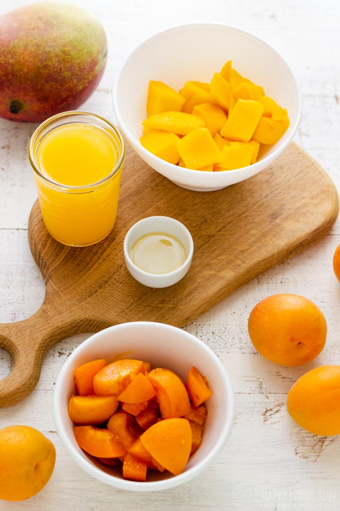 Apricot Mango Smoothie Fresh Ingredients
