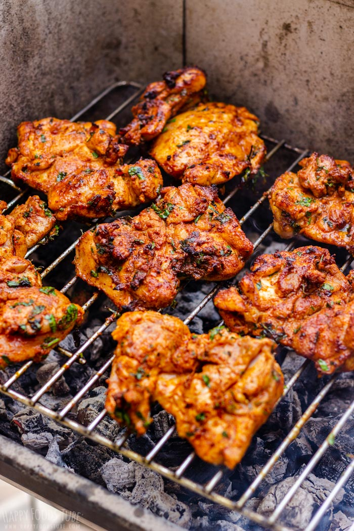 Barbecued Boneless Chicken Thighs