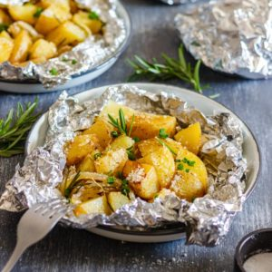 Golden Campfire Potatoes