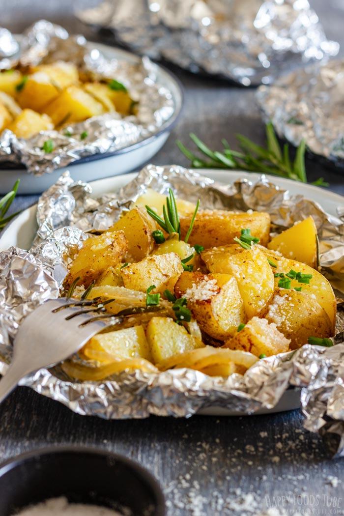 Campfire Potatoes in Foil