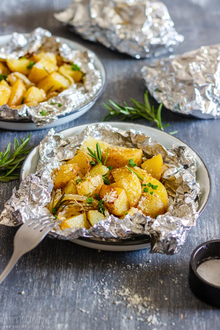 Easy Campfire Potatoes Recipe Happy Foods Tube
