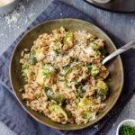 Homemade Instant Pot Zucchini Mushroom Risotto