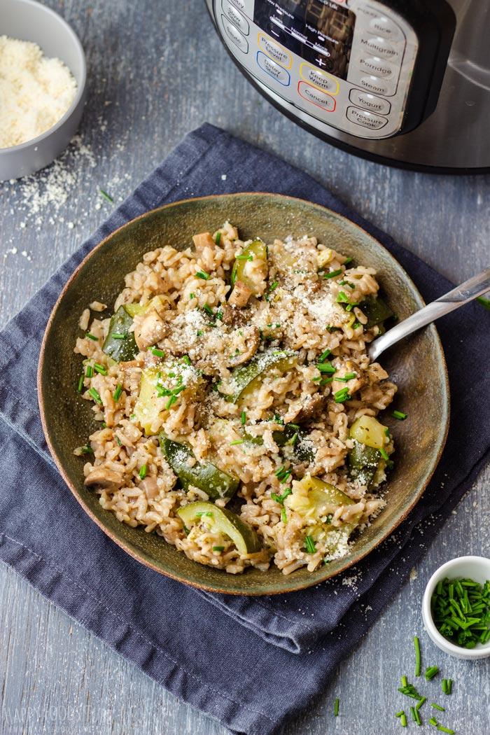 Instant Pot Zucchini Mushroom Risotto