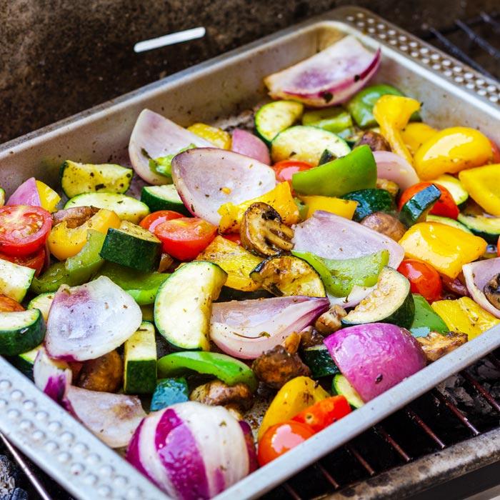 Mediterranean Grilled Vegetables Recipe - Happy Foods Tube