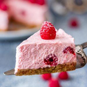 Best No Bake Raspberry Cheesecake