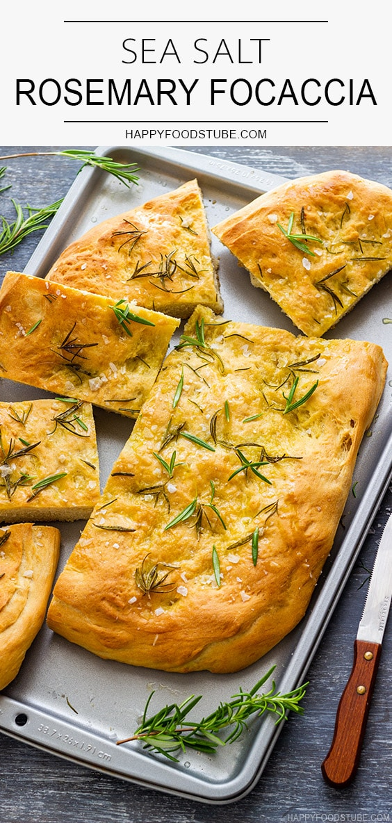 Sea Salt Rosemary Focaccia Recipe