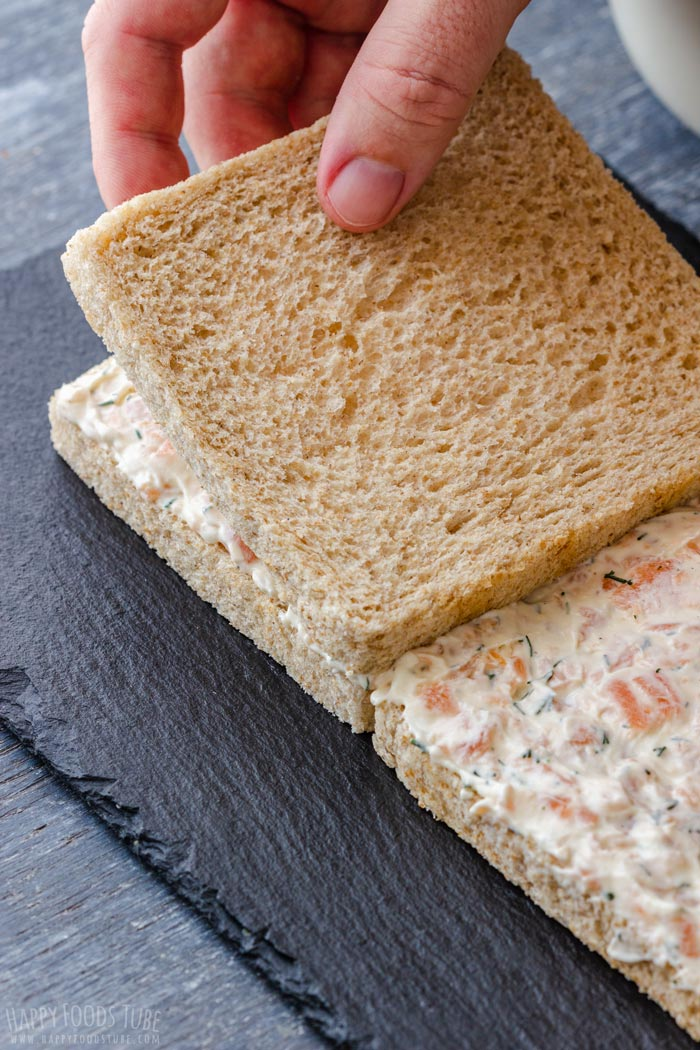 How to Make Smoked Salmon Sandwich Cake Step 1 - Bread Layers